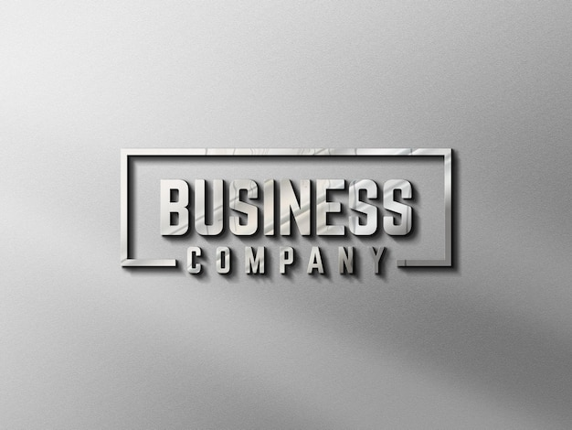 Logo mockup dinding 3d