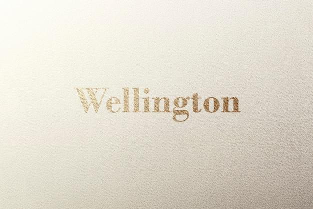 Logo mockup getextureerd goud