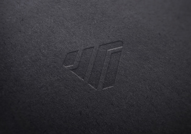 Logo mockup in carta nera