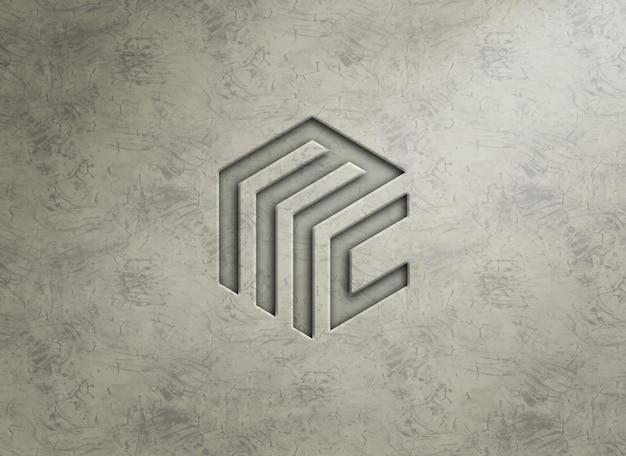 Logo mockup in reliëfstijl