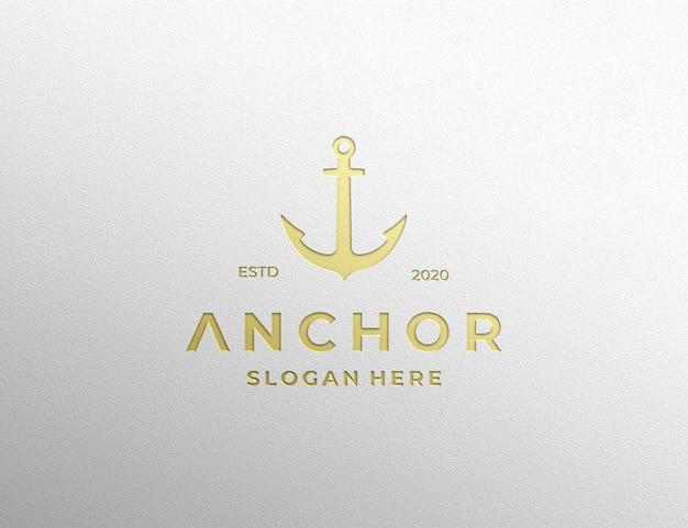 Logo mockup luxe stempel