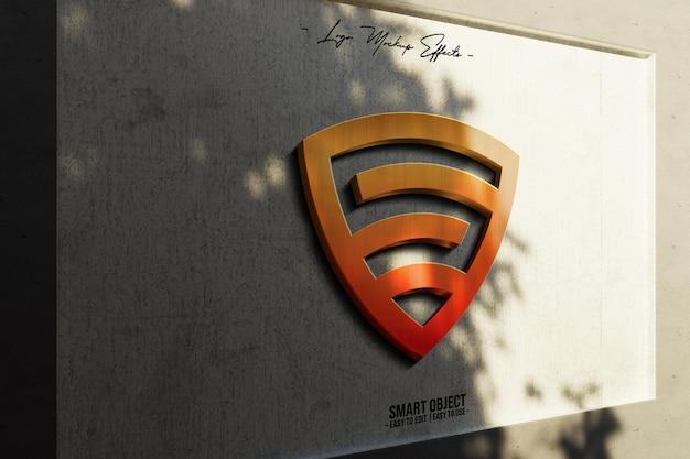 Logo-mockup-met-3d-logo-in-wall