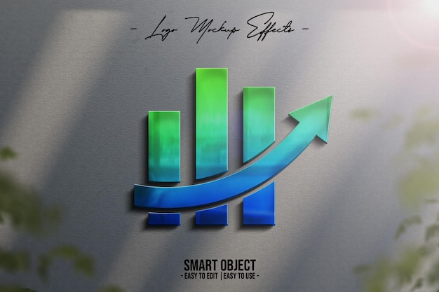 Logo mockup met 3d-logo