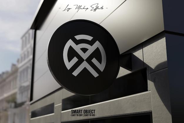 Logo mockup met bewegwijzering