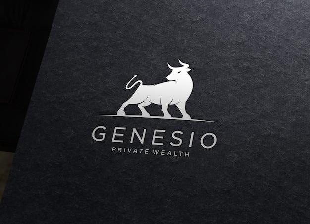 Logo mockup met inscriptie stijlweergave