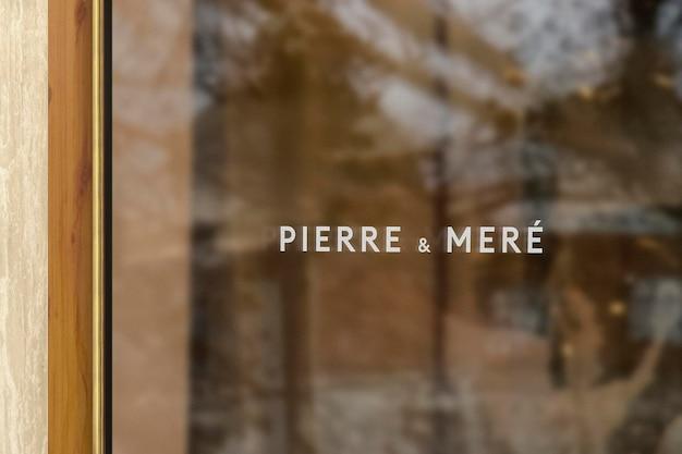 Logo mockup modern venster teken
