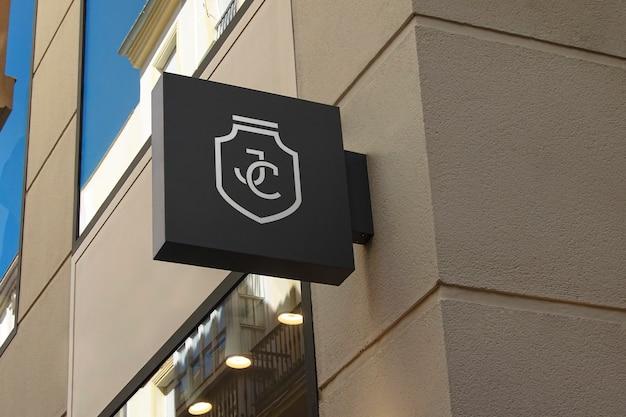 Logo mockup modern zwart teken