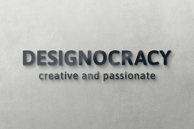 Logo mockup moderne psd, realistisch muurontwerp