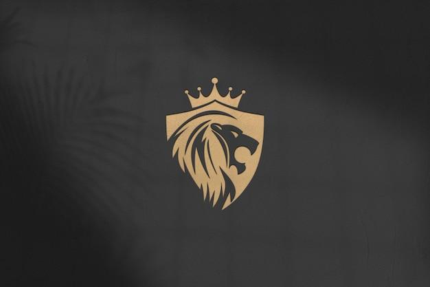 Logo mockup ontwerp geïsoleerd psd