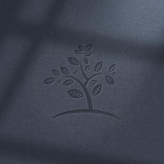 Logo mockup-ontwerp met schaduw