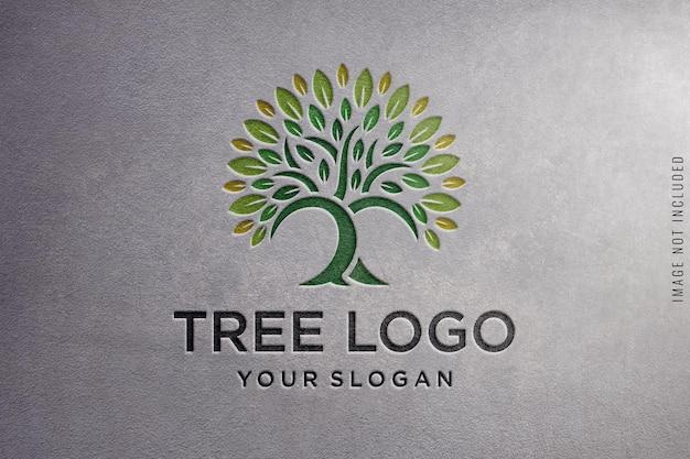 Logo mockup op betonnen structuur