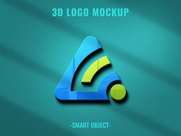 Logo mockup op betonnen textuurmuur