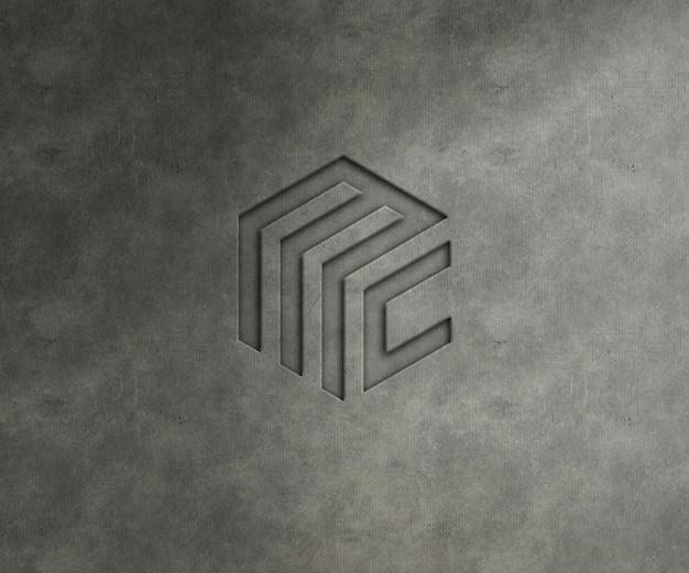 Logo mockup op de getextureerde muur