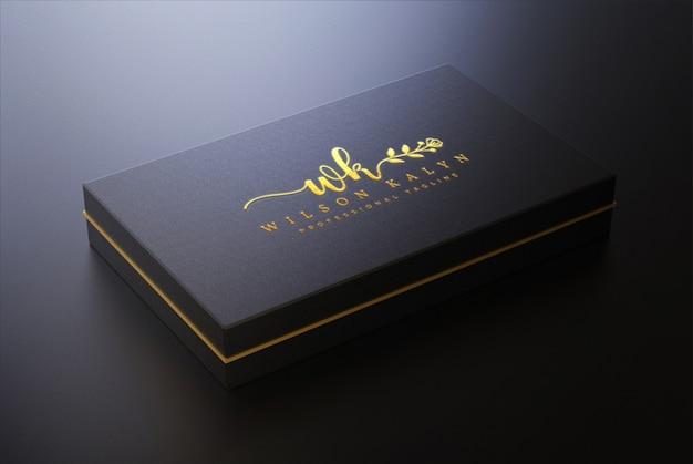 Logo mockup op doos
