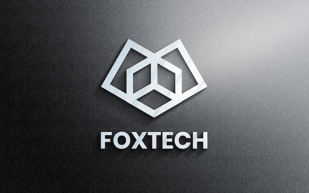 Logo mockup op kantoormuur 3d