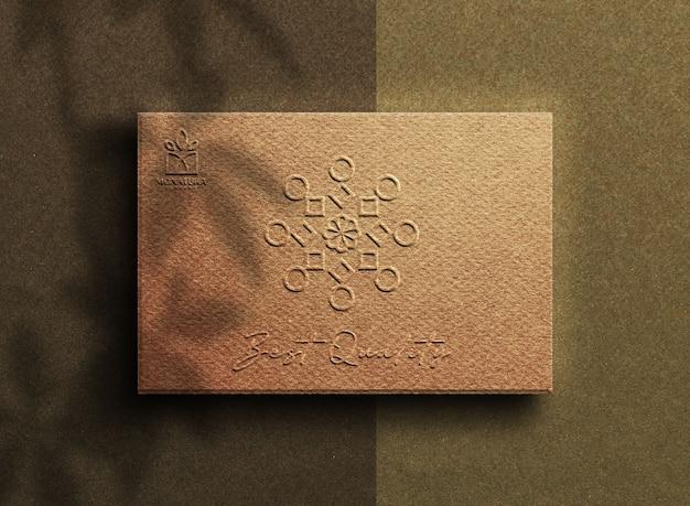 Logo mockup op koffiedoos