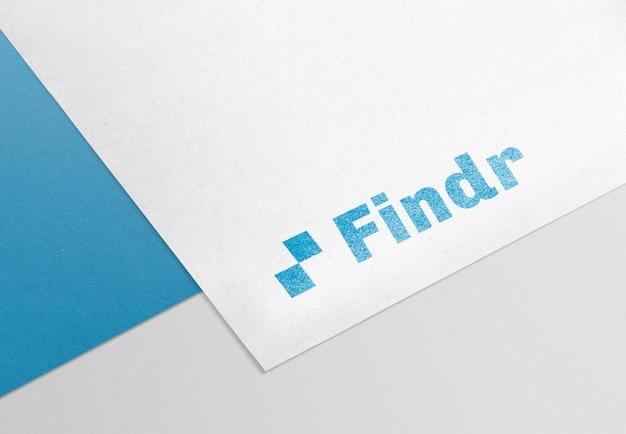 Logo mockup psd-papier, realistisch modern ontwerp