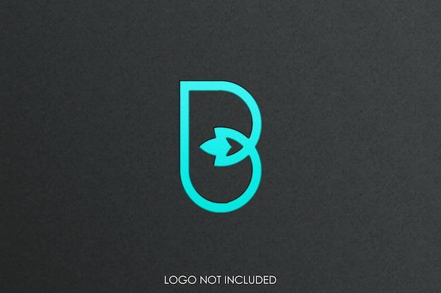 Logo mockup reliëfstijl