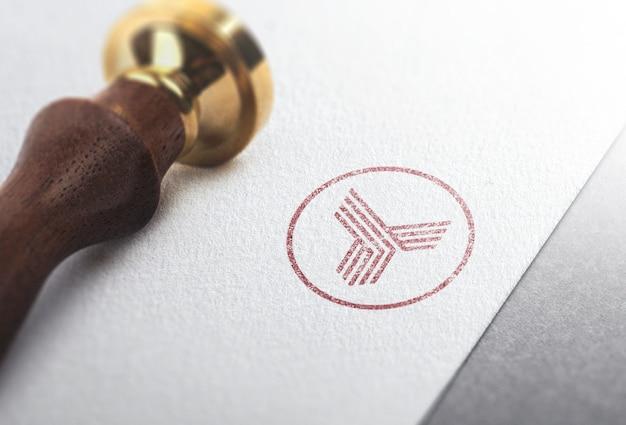 Logo mockup stamp