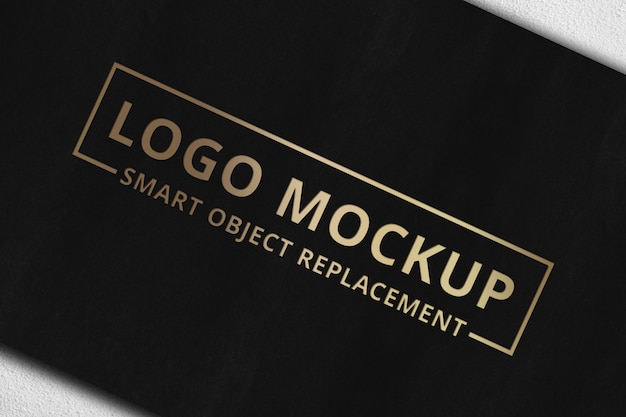 Logo mockup su carta