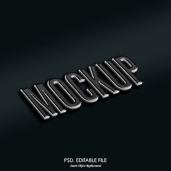 Logo mockup teksteffect