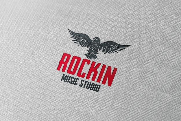 Logo mockup voor muziekstudio