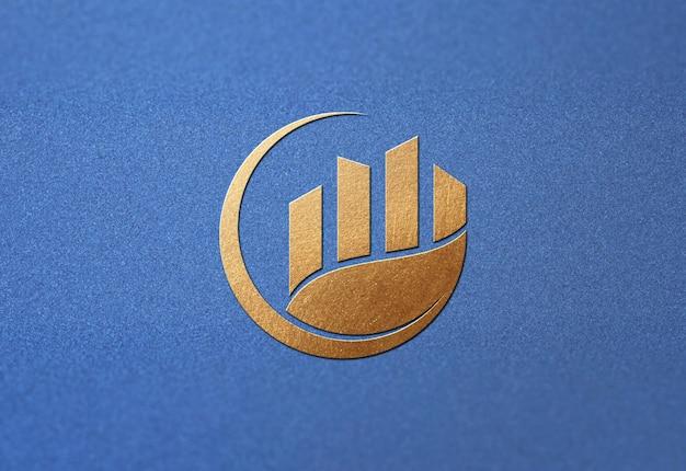 Logo mooi mockup ontwerp geïsoleerd