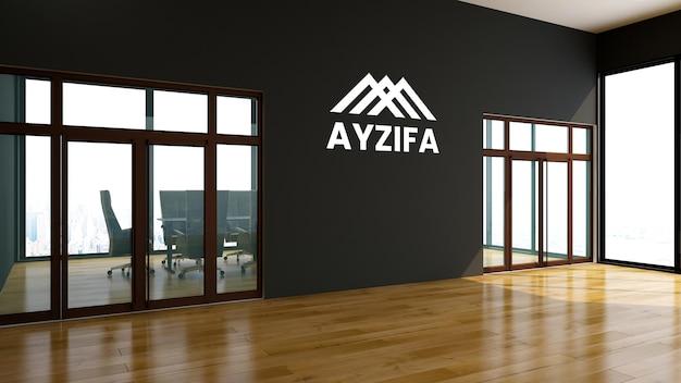 Logo op kantoormuurmodel