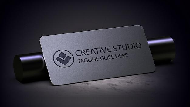 Logo plaat mockup realistisch