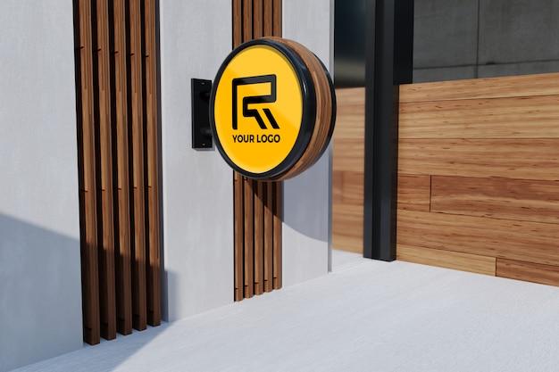 Logo ufficio segno mockup
