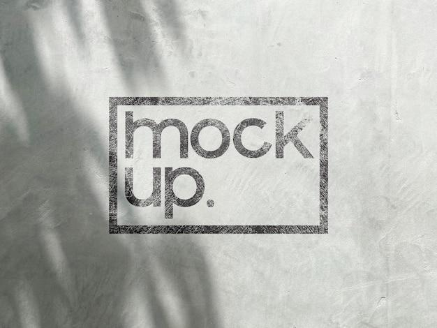 Logo verf mockup op de muur