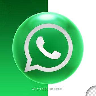 Logo whatsapp op ellips 3d-ontwerp Premium Psd