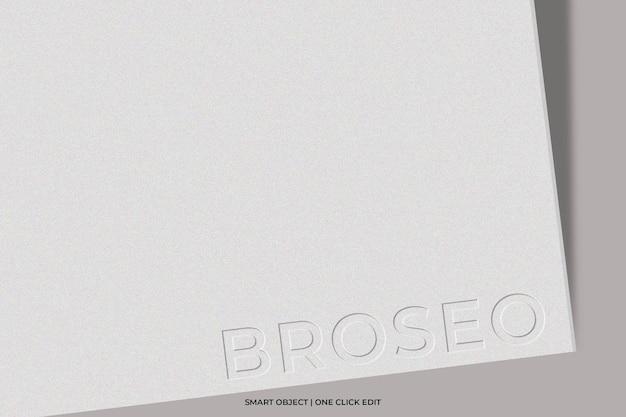 Logomodel met reliëf op papier