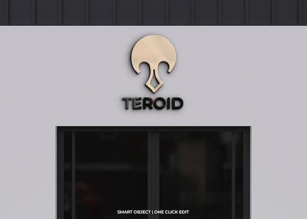 Logomodel op modern gebouw
