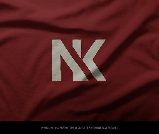 Logomodel op stof