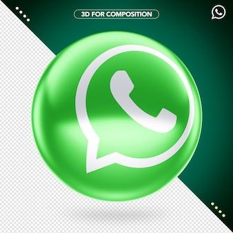 Logotipo 3d de whatsapp