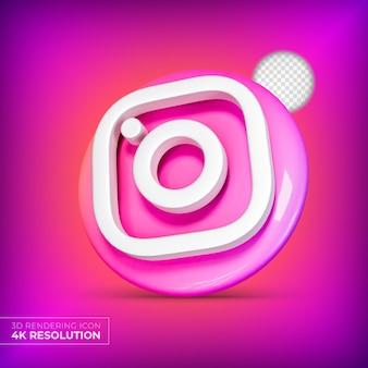 Logotipo de aplicaciones 3d de instagram aislado