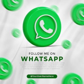 Logotipo brillante de whatsapp e íconos de redes sociales historia