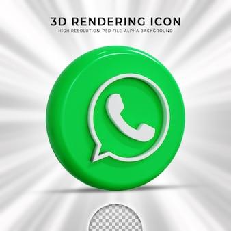 Logotipo brillante de whatsapp e iconos de redes sociales