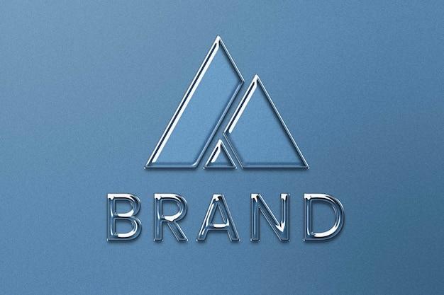 Logotipo de empresa editable psd en estilo en relieve