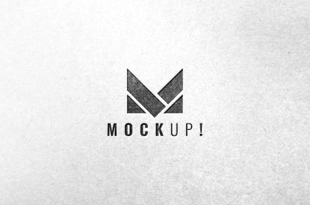 Logotipo de la empresa marca maqueta de lujo realista