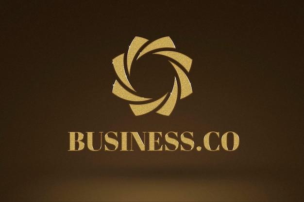 Logotipo de empresa de oro editable psd