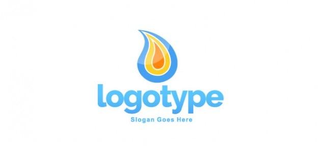 Logotipo de la llama diseño de la plantilla