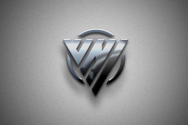 Logotipo de maqueta 3d blindado