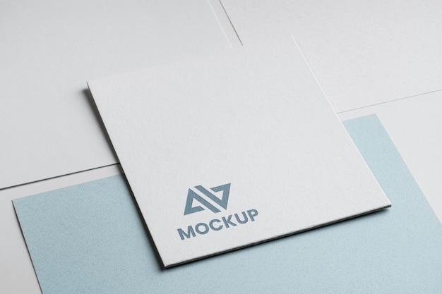 Logotipo de maqueta abstracta de identidad corporativa