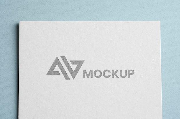 Logotipo de maqueta de identidad corporativa de vista superior