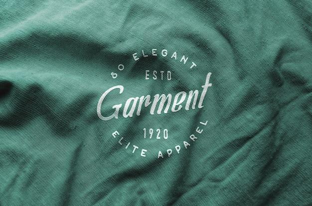 Logotipo maqueta tela arrugada