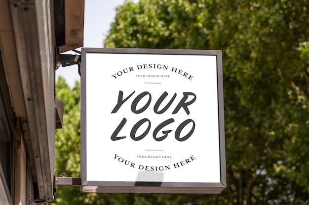 Logotipo de la marca de la tienda maqueta de señal