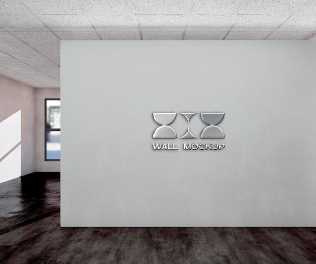 Logotipo de pared de oficina mocku