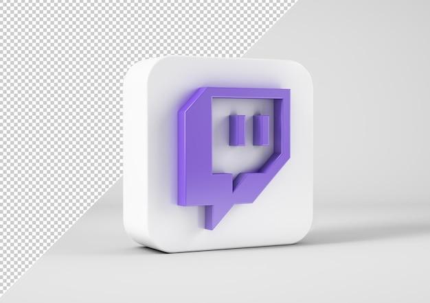 Logotipo de twitch en renderizado 3d